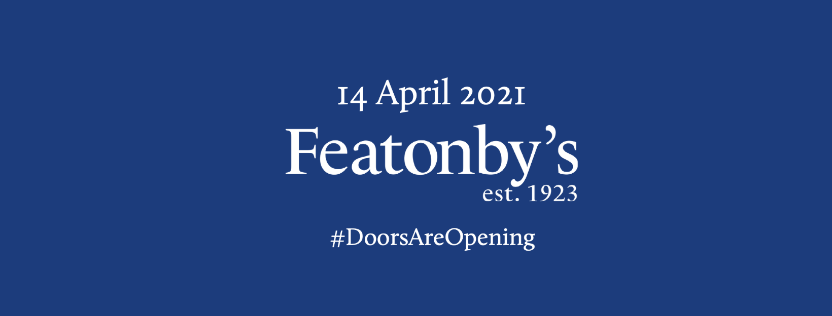 Doors opening back up at Featonby's